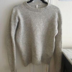 The Group Babaton grey yak wool thurlow sweater